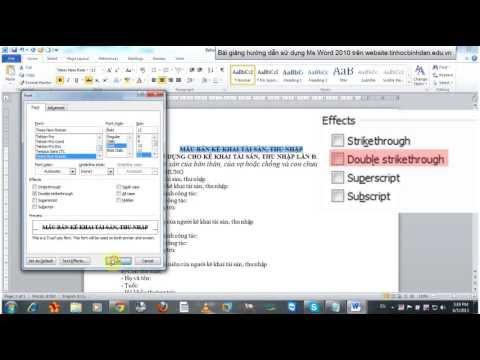 Bài giảng số 2 chương trình soạn thảo văn bản Ms Word 2010 - Định dạng cơ bản