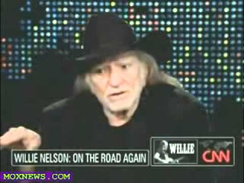 STONED ON CNN! Larry King interested in smoking marijuana with Willie Nelson