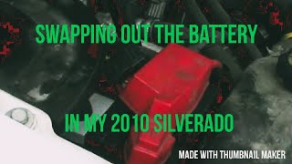 battery replacement in a 2010 chevy 1500