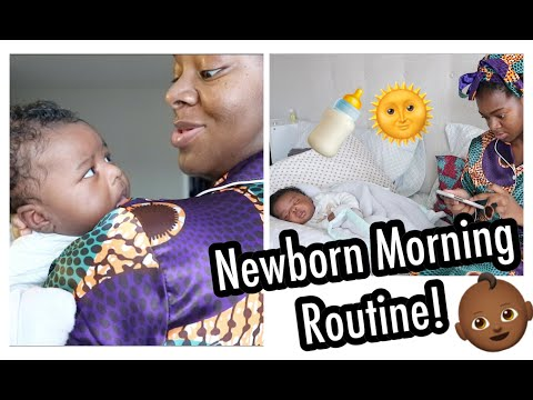 Morning Routine With A Newborn | 6 Weeks Old - Ify Yvonne