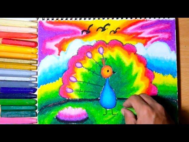 Menggambar Burung Merak Mewarnai Burung Merak Download Gambar Online