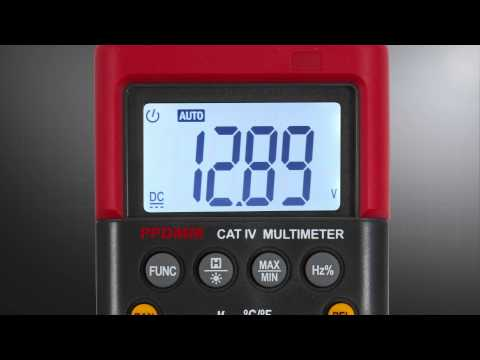 DIGITAL MULTIMETER with Temperature Probe,by Power Probe