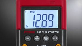 digital multimeter with temperature probe by power probe
