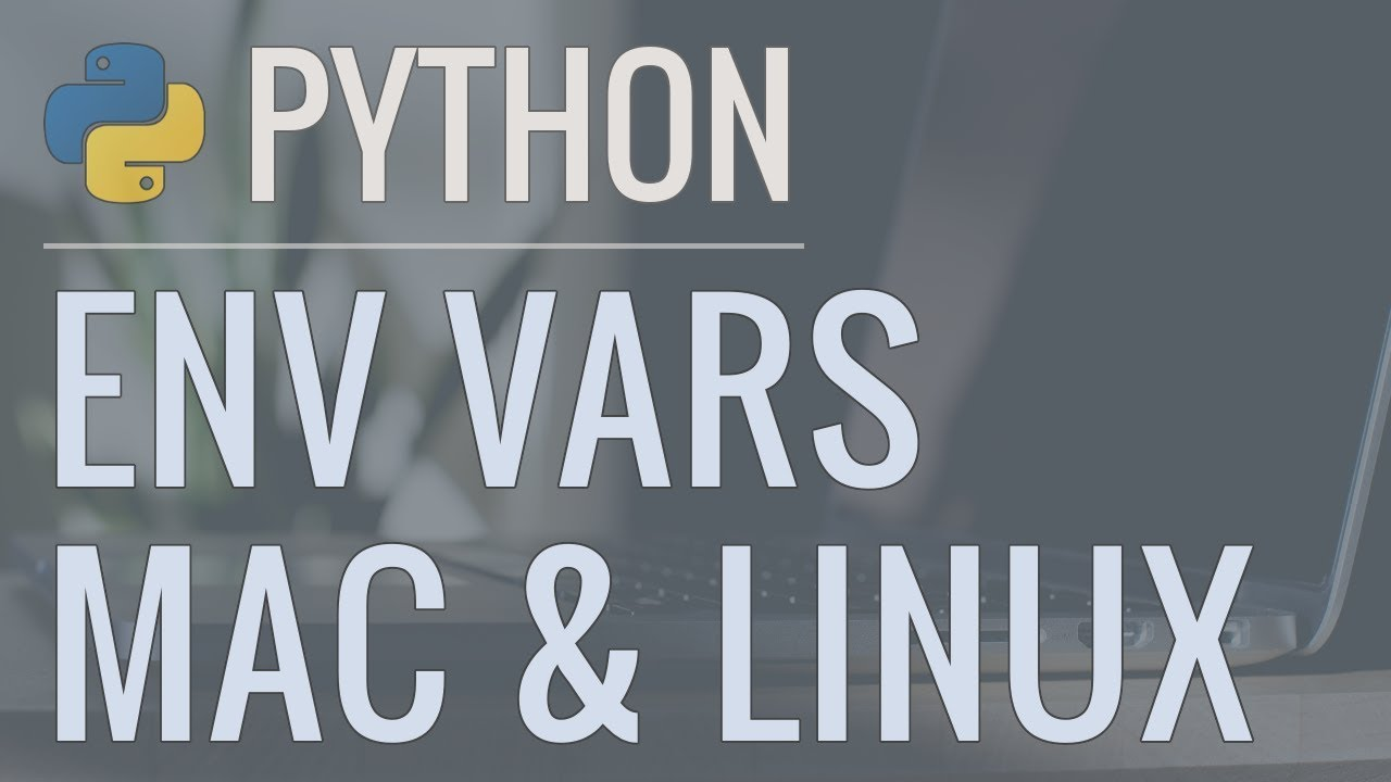 Python Quick Tip: Hiding Passwords and Secret Keys in Environment Variables (Mac & Linux)