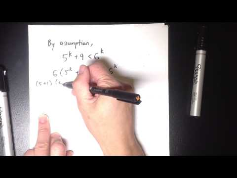 Induction Inequality Proof Example 3: 5^n + 9 less than 6^n