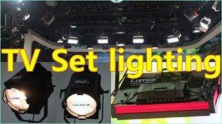 television studio lighting set design for tv commercial show - Lumos hawk 400, Lumos 700gt