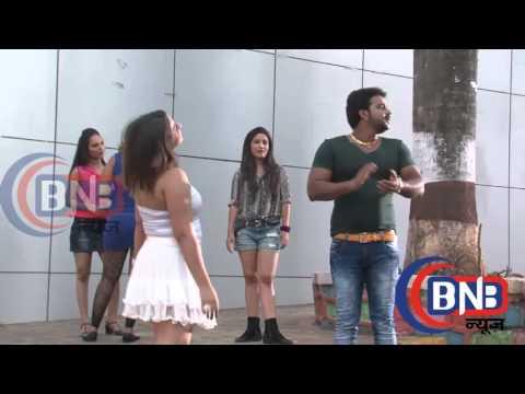 Pawan Singh Anara Gupta  Dance Masti On Location Shoot Bhojpuri film Nehle Pe Dehla