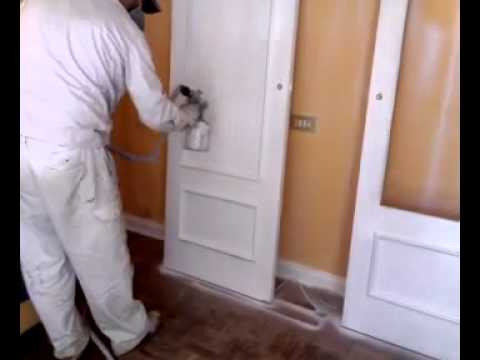 Lacado de puertas en color blanco y en gral youtube - Armario madera blanco ...