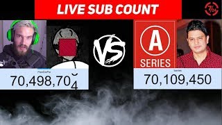 PEWDIEPIE VS T-SERIES VS MrBeast LIVE SUB COUNT: WHO WILL PREVAIL ?