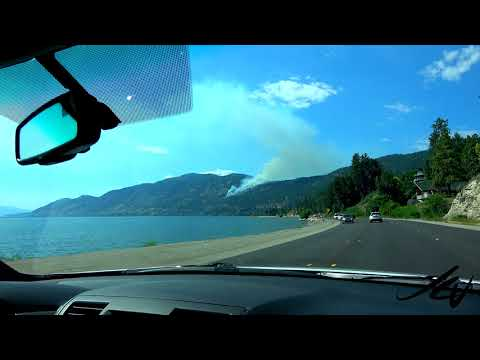 Okanagan Wildfire Season Start 2018  - Fires started by previous night lightning -  YouTube