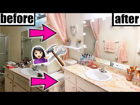 DIY BATHROOM MAKEOVER!