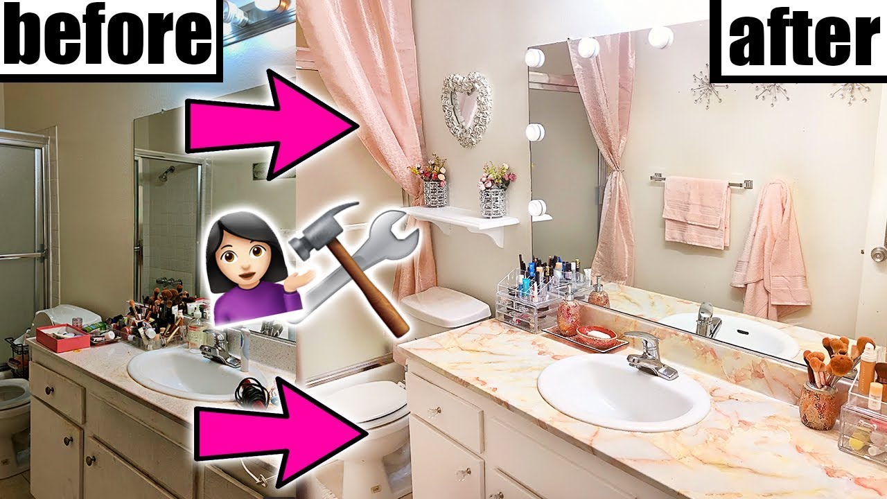 DIY BATHROOM MAKEOVER!