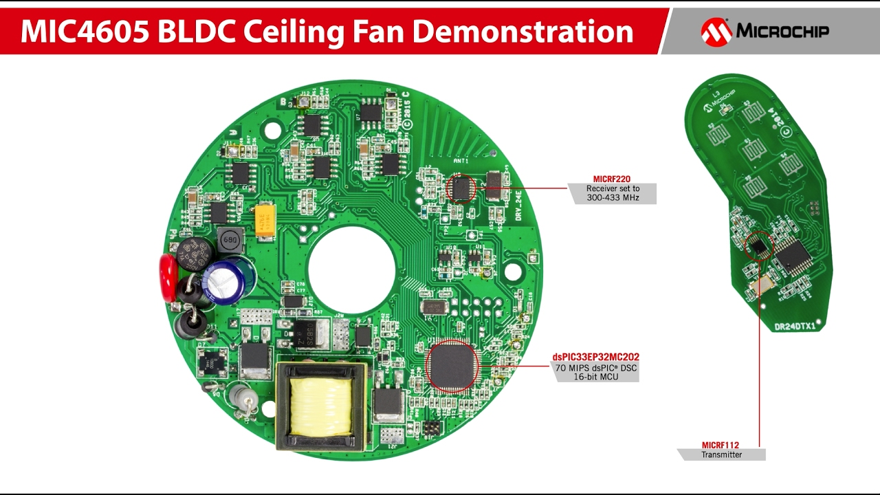 MIC4605 BLDC Ceiling Fan Demonstration