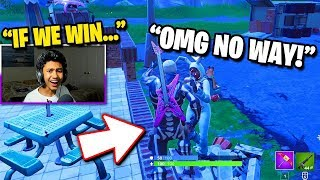 If we WIN, you can have this RARE Fortnite Account... (Fortnite Challenge)