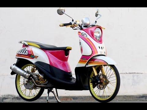 Modifikasi Motor Matic Yamaha Fino Bagus Nan Keren Youtube
