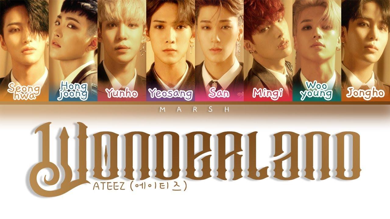 ATEEZ 에이티즈 – Wonderland Color Coded Lyrics/Han/Rom/Eng/Pt Br