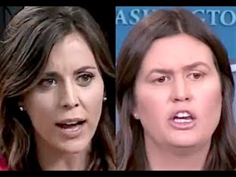 """""""IS THIS APPROPRIATE??!!"""" Sarah Sanders GOES OFF THE RAILS When Asked a Simple Question About Trump"""