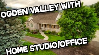 Ogden Valley Utah Home For Sale on Acreage With Large Outbuilding