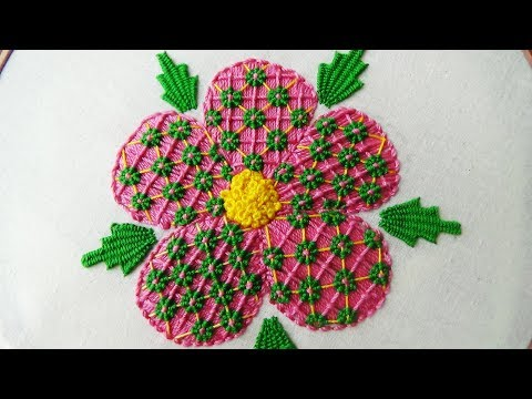 Hand Embroidery: Fantasy Flower Stitch