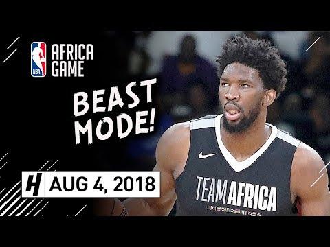 Joel Embiid Full Highlights vs Team World (2018 NBA Africa Game) - 24 Pts, 8 Reb