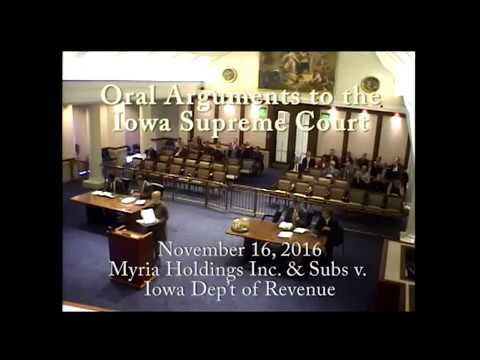 15–0296 Myria Holdings Inc. & Subs v. Iowa Department of Revenue, November 16, 2016
