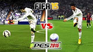 FIFA 15 vs. PES 15: Long Shots, Finesse Shots, Lobs
