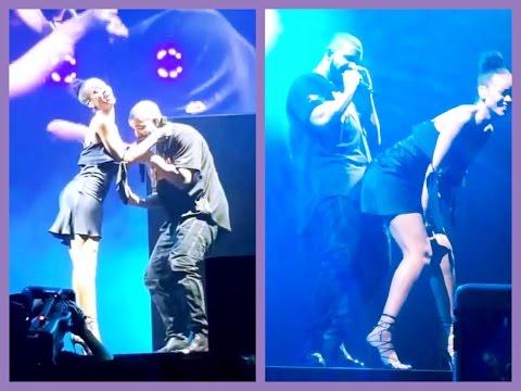 Rihanna & Drake Kiss On Stage In Miami Summer Sixteen Tour