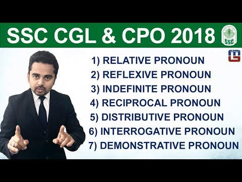 Special Cases of Pronoun | Part-2 | English | SSC CGL | CPO 2018 | 5:00 pm
