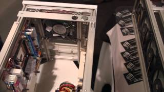 Computer in a nightstand - Spotswood test bench PAX East 2015