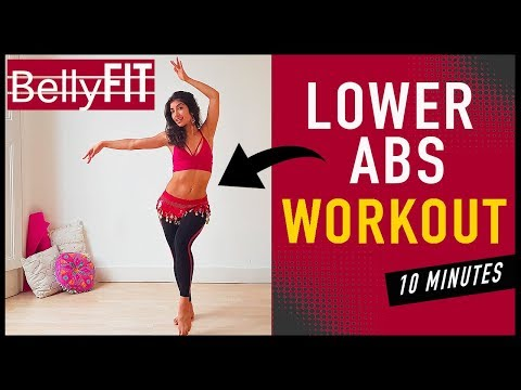 10-Min Lower Ab Workout | Belly dance BURN Belly FAT