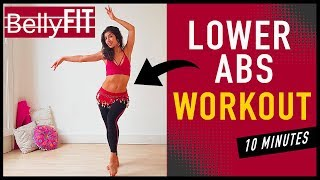 10-Min Lower Ab Workout | Belly dance BURN Belly FAT