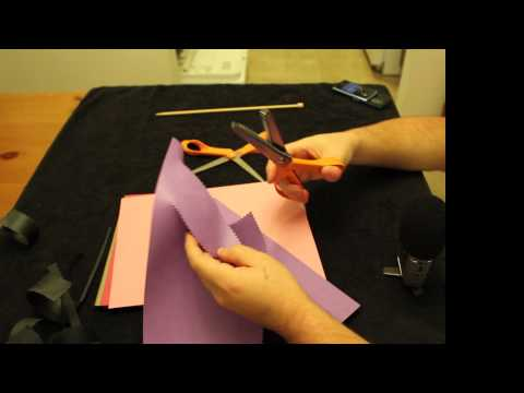 16.0 Relaxation: Construction Paper and Scissors.  Tearing, Cutting, Tapping, ASMR