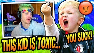 Ninja Meets The Most *TOXIC* 12 Year Old Kid On Fortnite! (TRASH TALKER!) Fortnite SAVAGE Moments