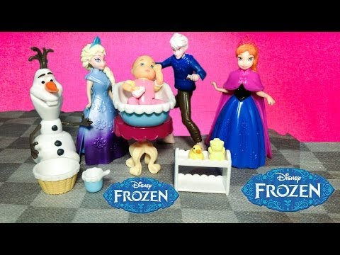 FROZEN Disney Frozen Elsa and Jack Frost Give Baby Abbie a Bath a Frozen Movie Parody アナ