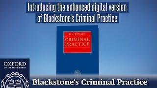 Introducing Blackstone's Criminal Practice 2019