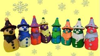 Play Doh Snowman Surprise Eggs Super Mario Frozen SpongeBob Princess Spiderman Minnie Mouse Thumbnail
