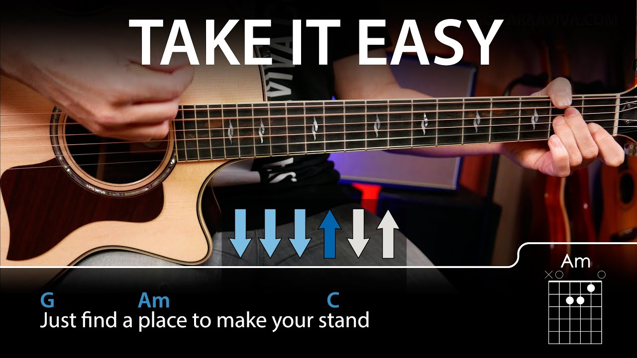 how to play take it easy eagles on guitar easy lesson youtube. Black Bedroom Furniture Sets. Home Design Ideas