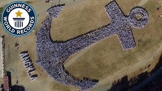 Largest human image of an anchor - Guinness World Records