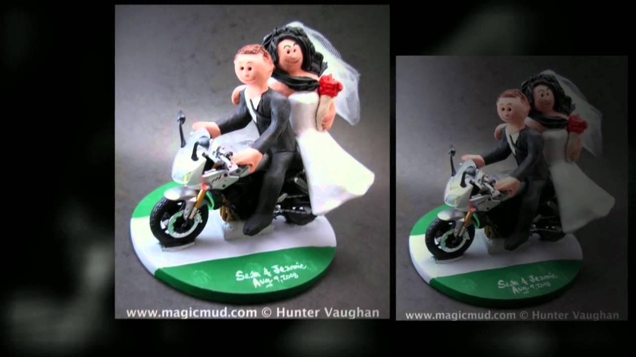 Motorcycle Wedding Cake Toppers Youtube
