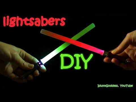 How To Make A Lightsaber in 2 minutes – DIY Star Wars Lightsabers