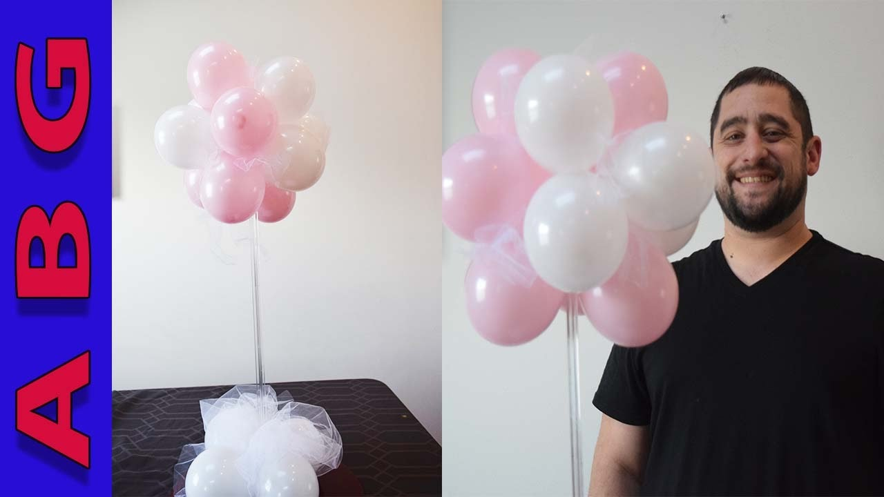 How To Make A Topiary Balloon Decoration Centerpiece For