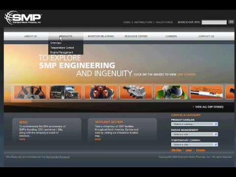 Standard Motor Products Website Demo