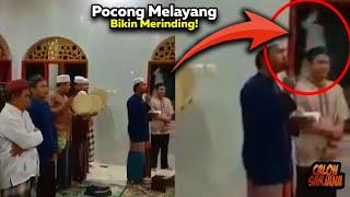 Video Viral Ada Penampakan Mirip Pocong Melayang Saat Warga Beribadah yang Sungguh Bikin Merinding