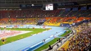 Легкая атлетика . Чемпионат мира в Москве . Athletics . World championship in Moscow .