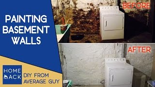 Painting Basement Stone Walls | Normal Guy Paints Cellar