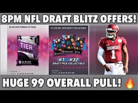 WE PULLED A 99 OVERALL! NFL DRAFT BLITZ OFFERS MADDEN 19 PACK OPENING