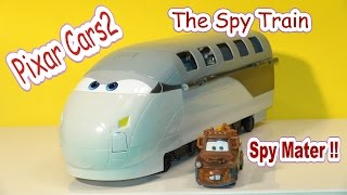 Pixar Cars2 , The Spy Train with Spy Mater Unboxing and demo