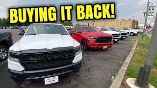 BUYING MY OLD TRUCK BACK FROM THE DEALERSHIP!