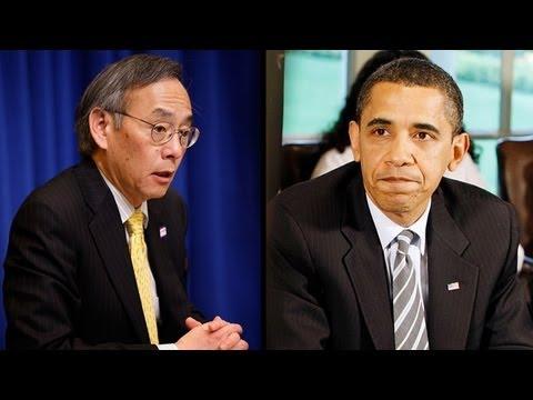 Embarrassed Steven Chu Accidentally Calls Barack Obama