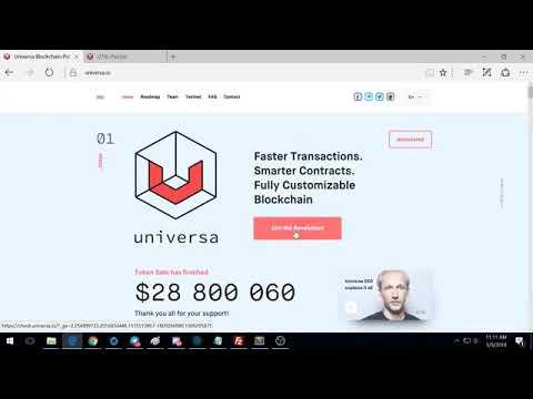 Claim Your Universa Blockchain Tokens